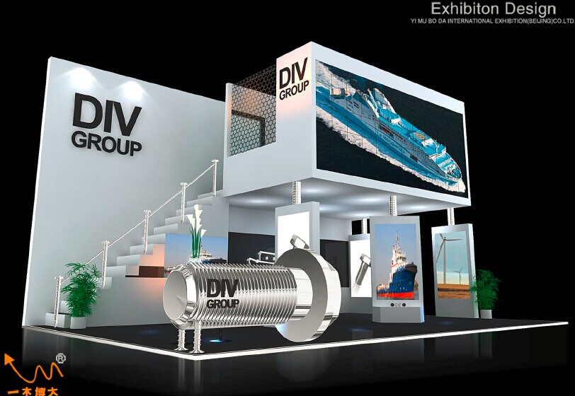 Exhibition Stand Height : Double deck exhibition stand yimu exhibits yimu exhibition
